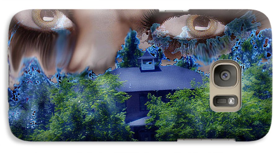 Strange House Galaxy S7 Case featuring the digital art Something To Watch Over Me by Seth Weaver