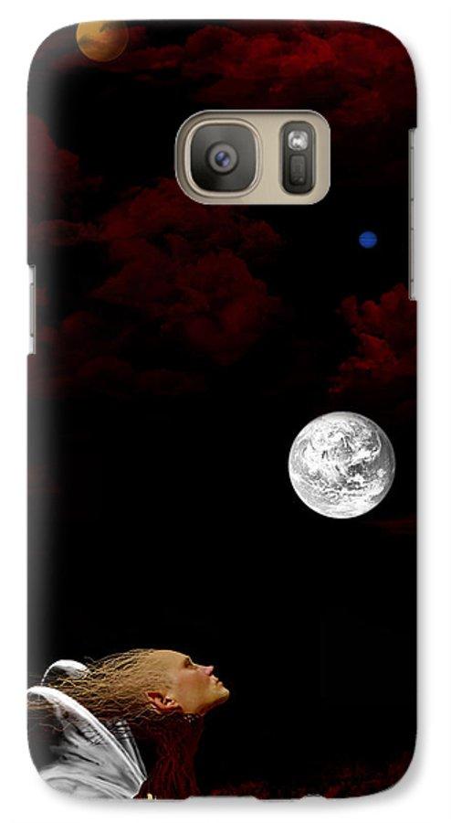 Moon Galaxy S7 Case featuring the digital art Sometimes I Wonder by Ruben Flanagan