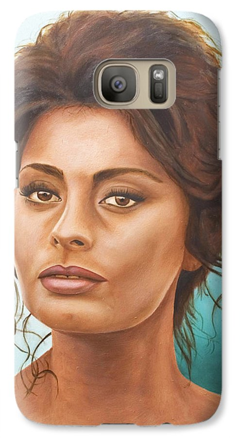 Moviestar Galaxy S7 Case featuring the painting Sophia Loren by Rob De Vries