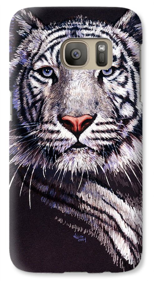 Tiger Galaxy S7 Case featuring the drawing Sorcerer by Barbara Keith