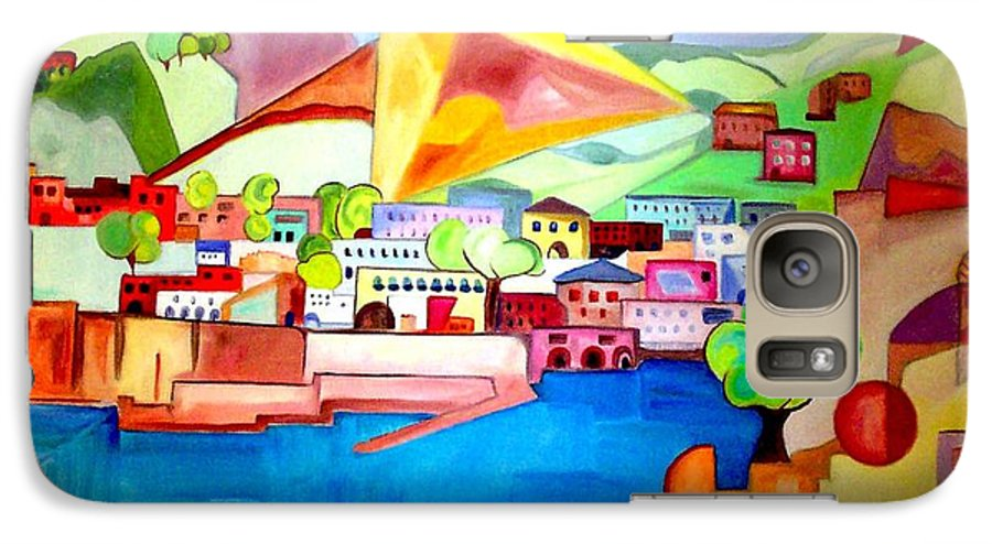 Abstract Galaxy S7 Case featuring the painting Sorrento by Patricia Arroyo