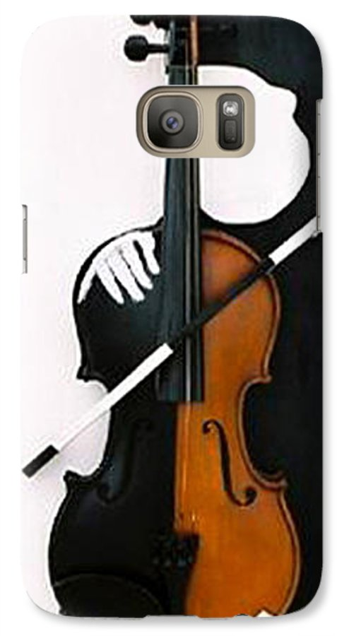 Violin Galaxy S7 Case featuring the sculpture Soul Of Music by Steve Karol