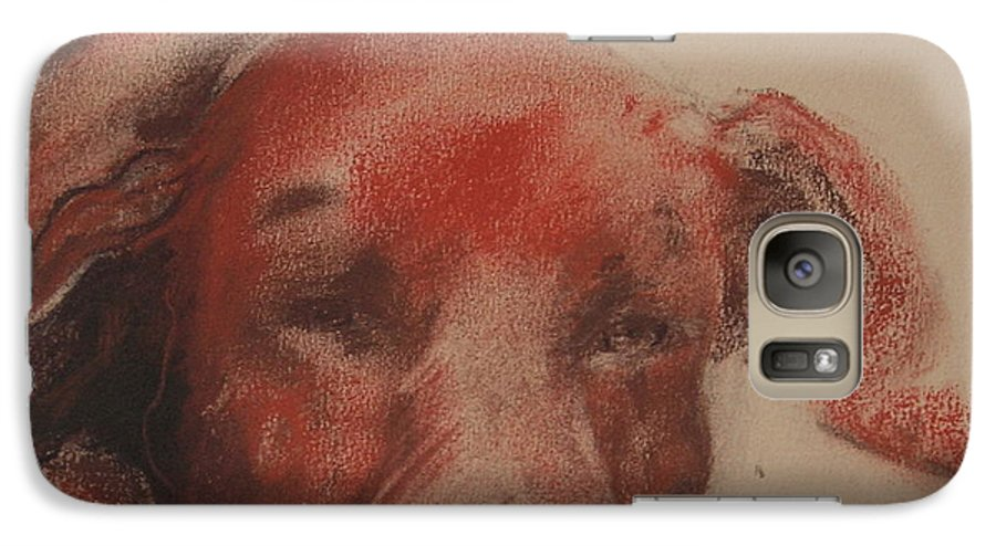 Pastel Galaxy S7 Case featuring the drawing Soul Searcher by Cori Solomon
