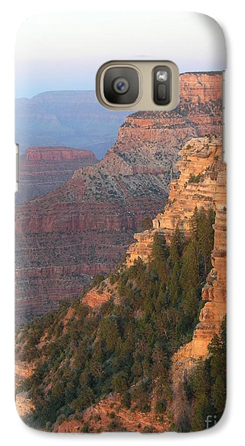 Sunset Galaxy S7 Case featuring the photograph South Rim Sunset by Louise Magno