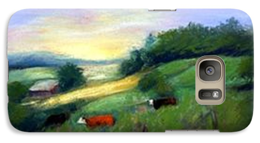 Landscape Galaxy S7 Case featuring the painting Southern Ohio Farm by Gail Kirtz