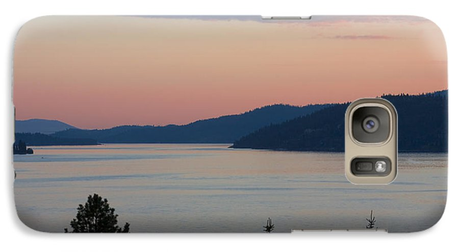 Sunset Galaxy S7 Case featuring the photograph Southern Skies In Pink by Idaho Scenic Images Linda Lantzy