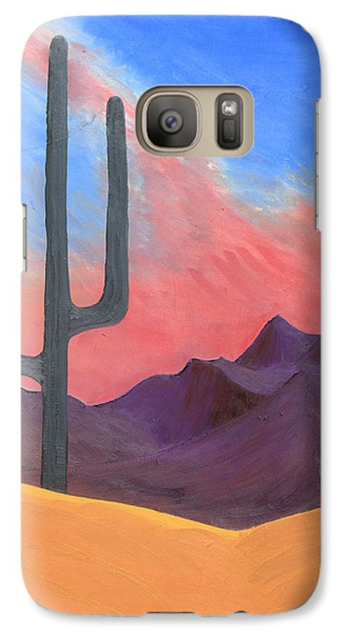 Cactus Galaxy S7 Case featuring the painting Southwest Scene by J R Seymour