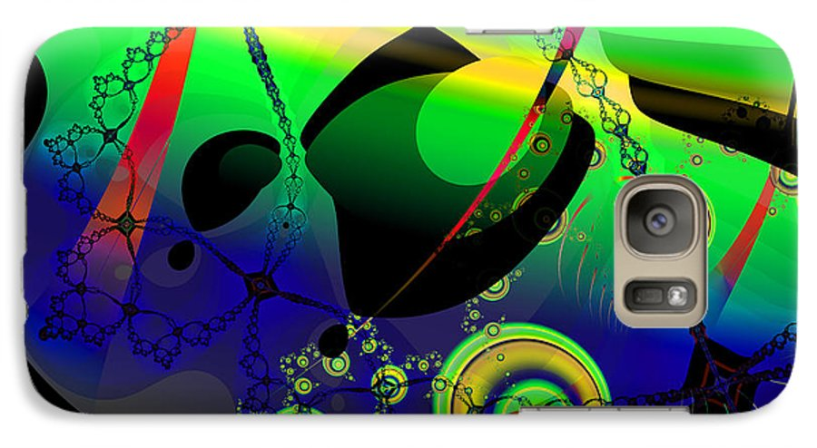 Fractal Galaxy S7 Case featuring the digital art Space Carnival by Frederic Durville