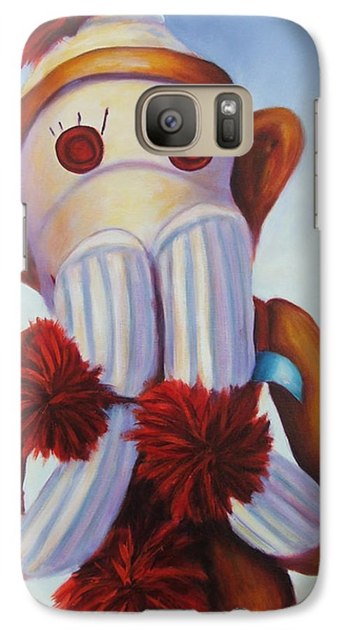 Children Galaxy S7 Case featuring the painting Speak No Bad Stuff by Shannon Grissom