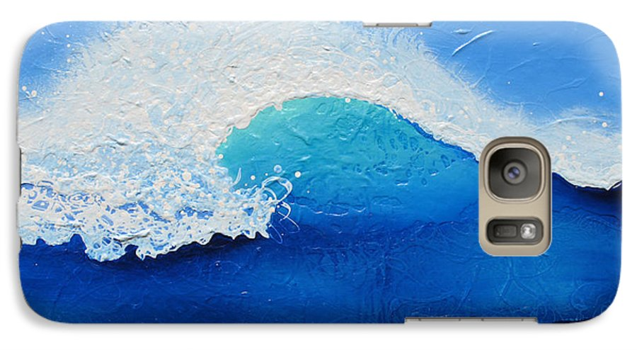Contemporary Galaxy S7 Case featuring the painting Spiral Wave by Jaison Cianelli