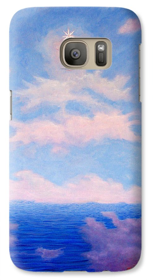 Buddha Galaxy S7 Case featuring the painting Spirit Of The Lake by Brian Commerford