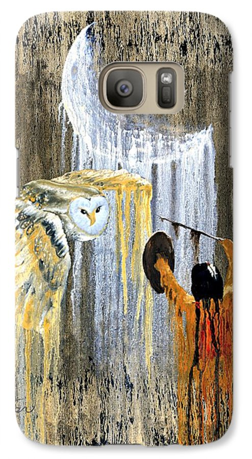 Indian Art Galaxy S7 Case featuring the painting Spirit Of The Night by Patrick Trotter