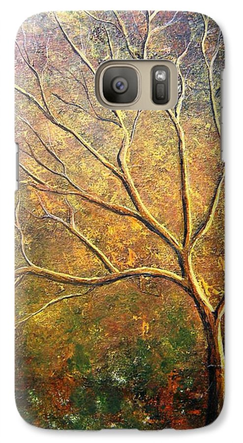 Galaxy S7 Case featuring the painting Spirit Tree 5 by Tami Booher