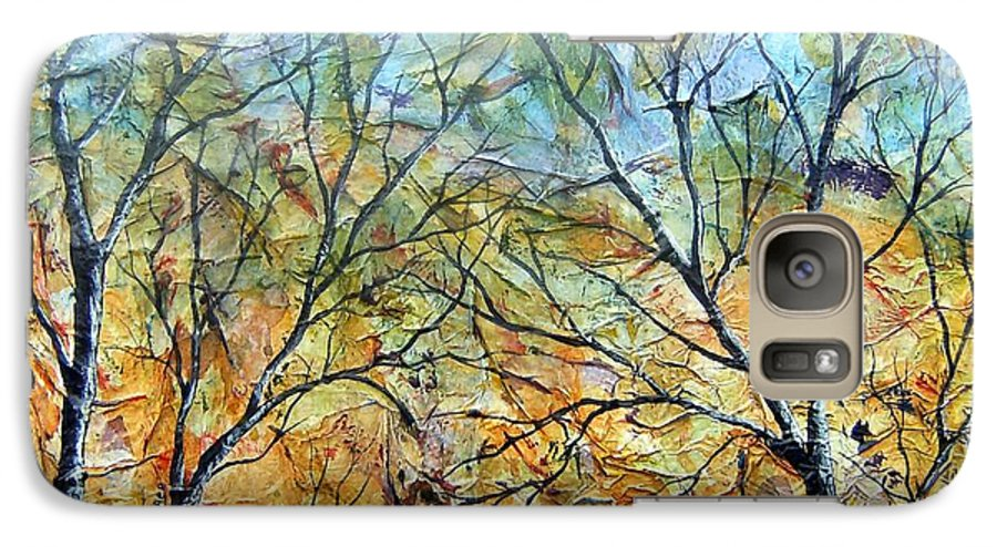 Galaxy S7 Case featuring the painting Spirit Trees 7 by Tami Booher