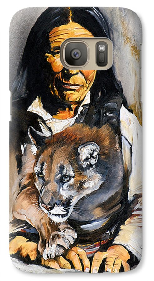 Spiritual Galaxy S7 Case featuring the painting Spirit Within by J W Baker