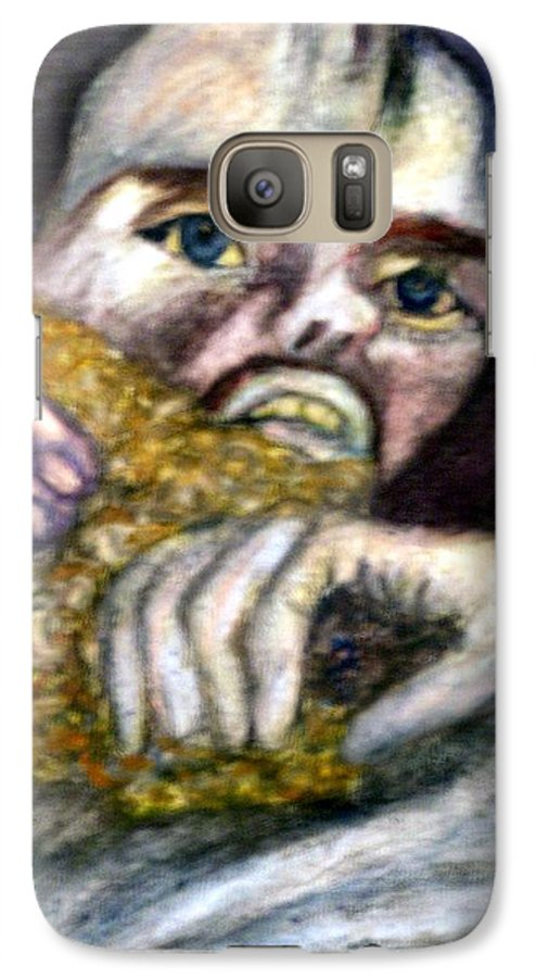 Spiritual Portrait Galaxy S7 Case featuring the painting Sponge Christ Your Eyes by Stephen Mead