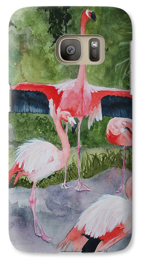 Wings Galaxy S7 Case featuring the painting Spreading My Wings by Jean Blackmer