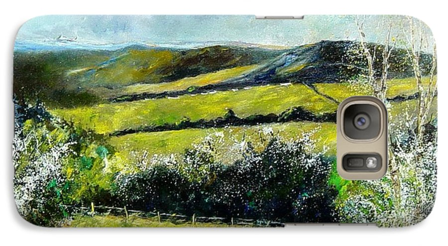 Landscape Galaxy S7 Case featuring the print Spring 79 by Pol Ledent