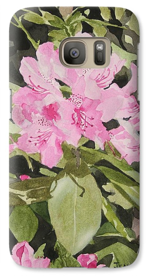 Flowers Galaxy S7 Case featuring the painting Spring At The Cabin by Jean Blackmer