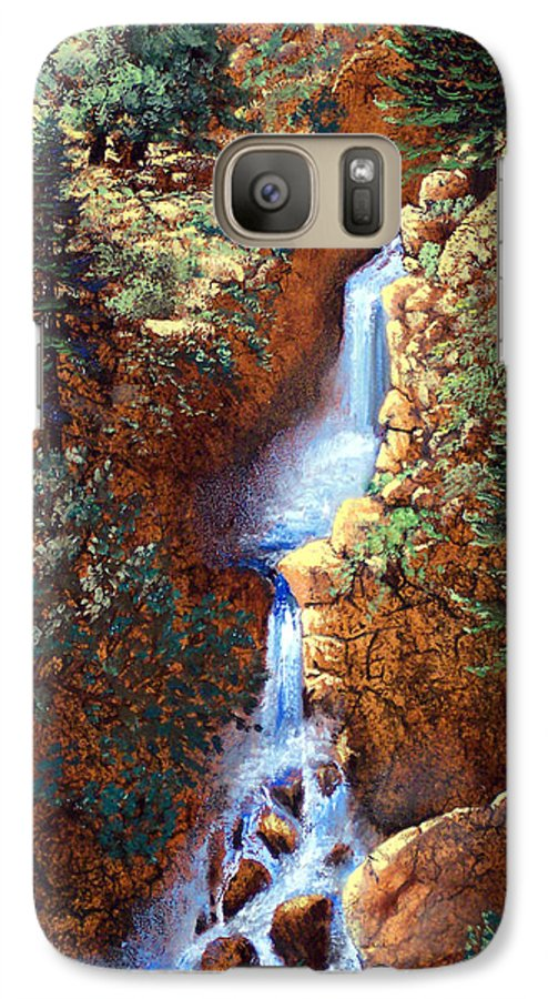 Wilderness Galaxy S7 Case featuring the painting Spring Cascade by Frank Wilson