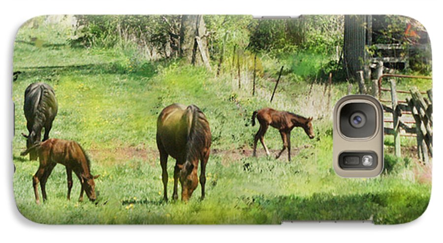 Spring Colts Galaxy S7 Case featuring the digital art Spring Colts by John Beck
