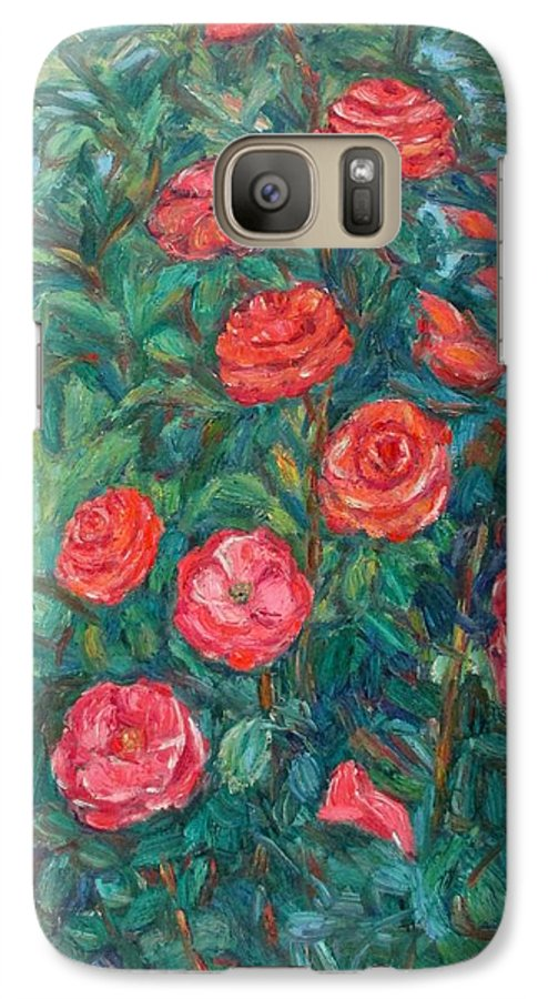 Rose Galaxy S7 Case featuring the painting Spring Roses by Kendall Kessler
