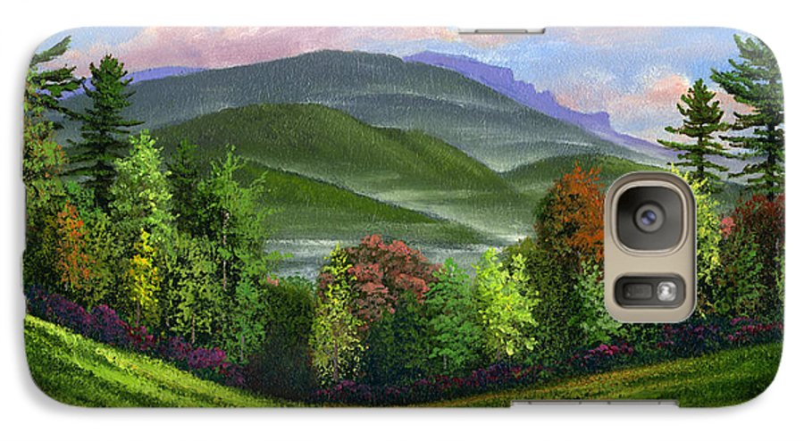 Landscape Galaxy S7 Case featuring the painting Spring Time by Frank Wilson