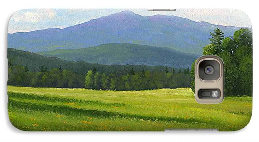 Landscape Galaxy S7 Case featuring the painting Spring Vista by Frank Wilson