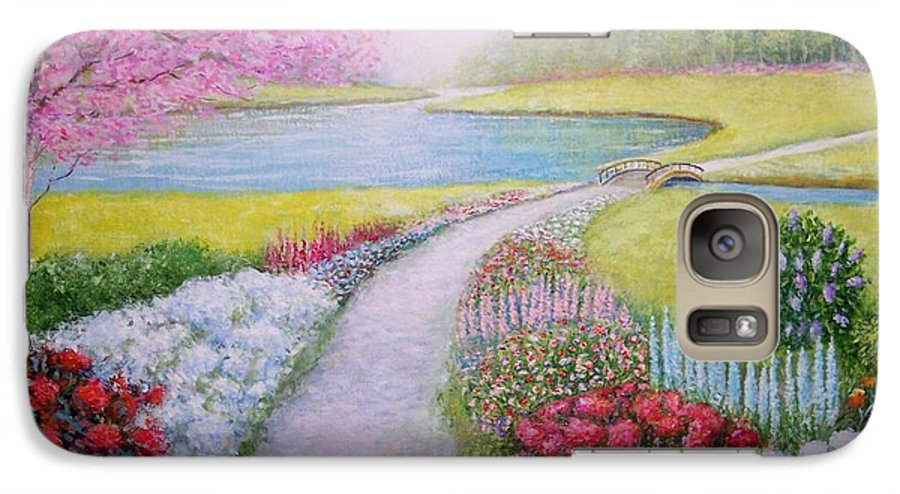 Landscape Galaxy S7 Case featuring the painting Spring by William H RaVell III