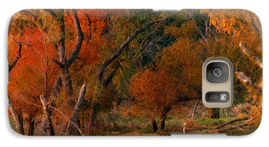 Landscape Galaxy S7 Case featuring the photograph Squaw Creek Egrets by Steve Karol