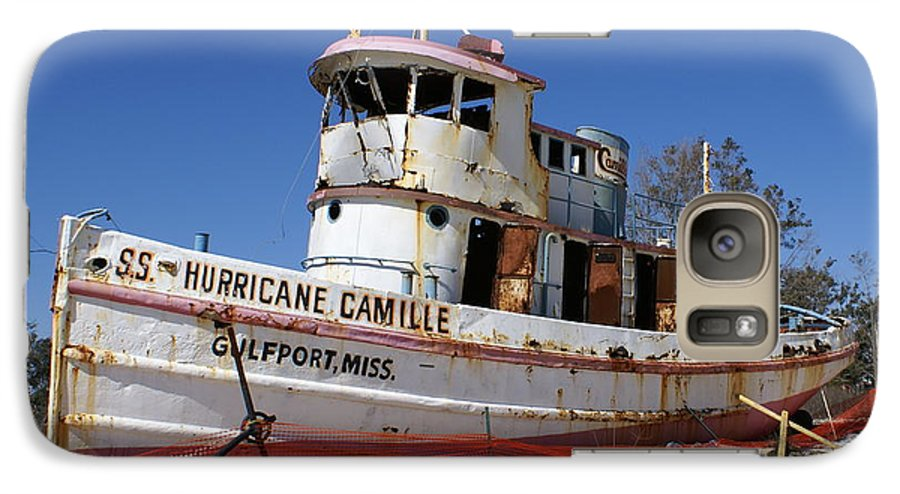 Ship Galaxy S7 Case featuring the photograph S.s. Hurricane Camille by Debbie May