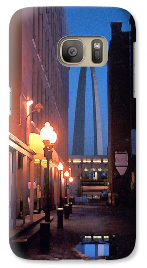 St. Louis Galaxy S7 Case featuring the photograph St. Louis Arch by Steve Karol