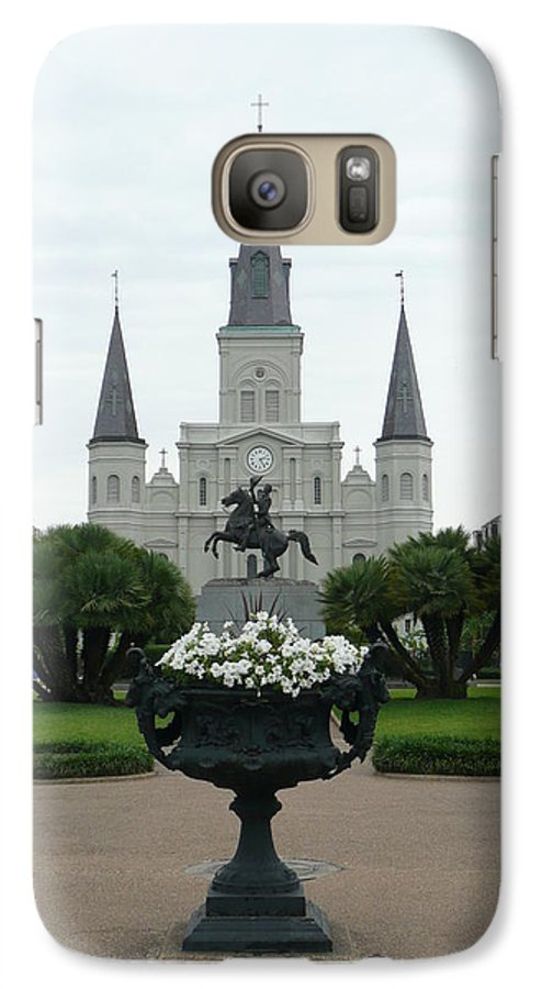 New Orleans Galaxy S7 Case featuring the photograph St. Louis Cathedral New Orleans by Kathy Schumann