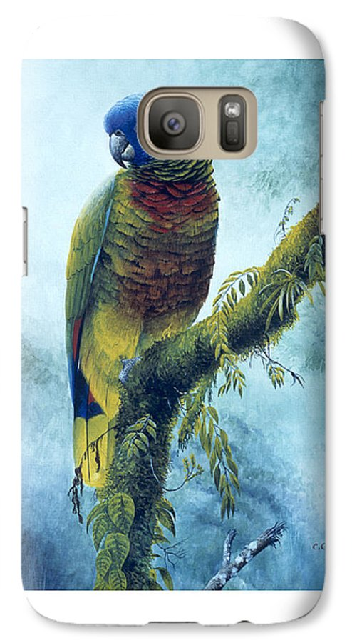 Chris Cox Galaxy S7 Case featuring the painting St. Lucia Parrot - Majestic by Christopher Cox
