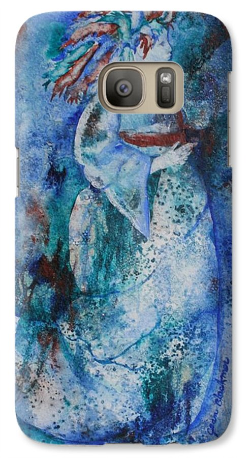 Abstract Galaxy S7 Case featuring the painting Star Dancer by Jean Blackmer