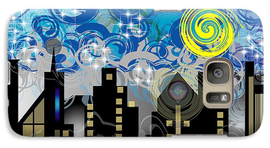 Jazz Galaxy S7 Case featuring the digital art Starry Night by George Pasini
