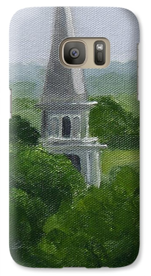 Steeple Galaxy S7 Case featuring the painting Steeple by Toni Berry