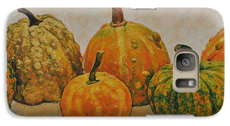 Still Life Galaxy S7 Case featuring the painting Still Life With Pumpkins by Iliyan Bozhanov