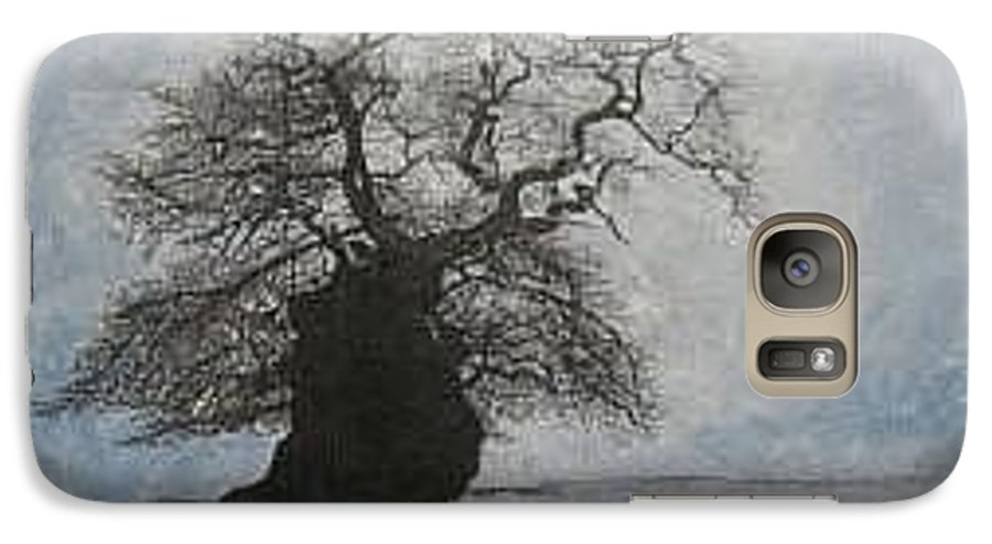 Silhouette Galaxy S7 Case featuring the painting Stilton Silhouette by Leah Tomaino