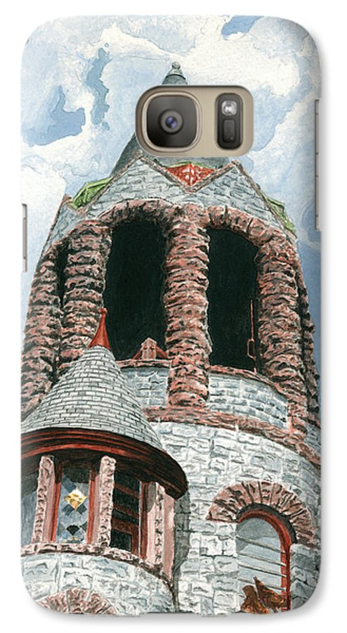 Church Galaxy S7 Case featuring the painting Stone Church Bell Tower by Dominic White