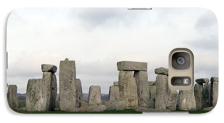 Stonehenge Galaxy S7 Case featuring the photograph Stonehenge by Amanda Barcon