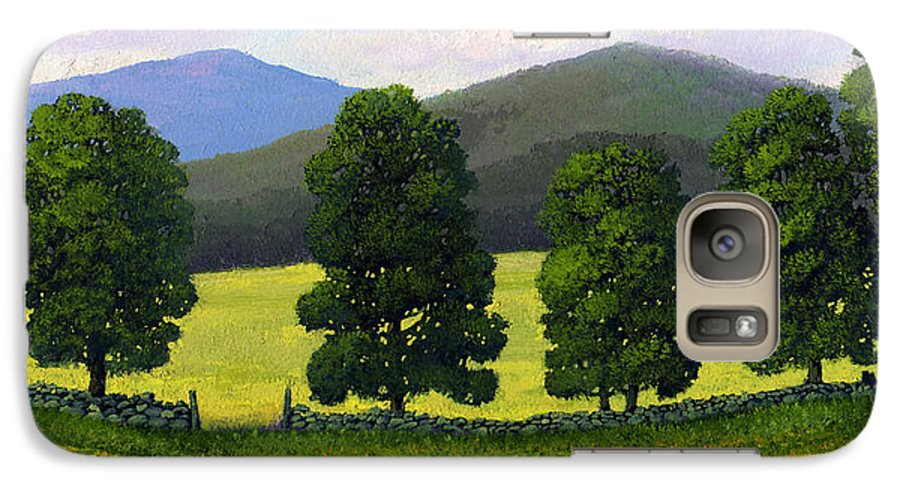 Landscape Galaxy S7 Case featuring the painting Stonewall Field by Frank Wilson