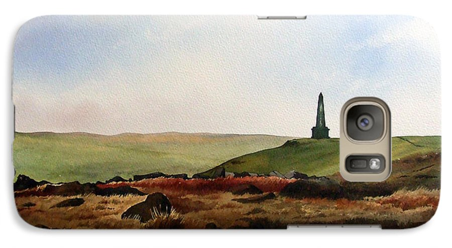 Landscape Galaxy S7 Case featuring the painting Stoodley Pike by Paul Dene Marlor