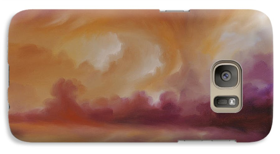 Tempest Galaxy S7 Case featuring the painting Storm Clouds 2 by James Christopher Hill
