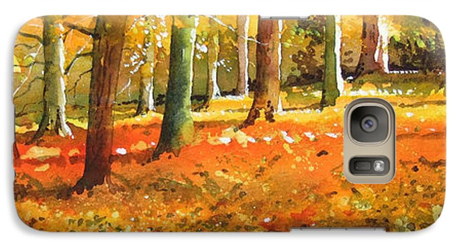 Woodland Landscape. Galaxy S7 Case featuring the painting Strid Wood by Paul Dene Marlor