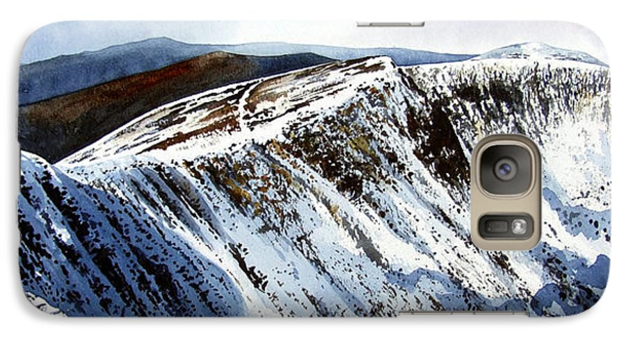 Helvellin Galaxy S7 Case featuring the painting Striding Edge Leading To Helvellin Sumit by Paul Dene Marlor