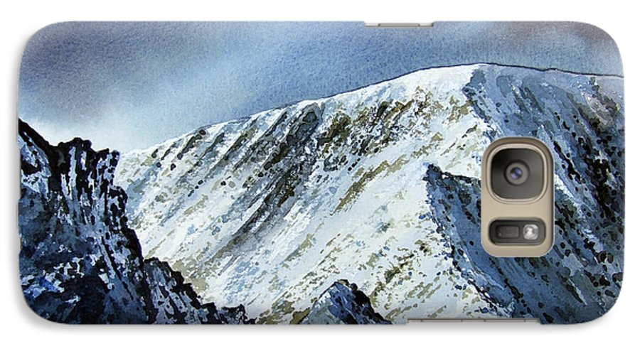 Mountain Galaxy S7 Case featuring the painting Striding Edge On Helvellin by Paul Dene Marlor