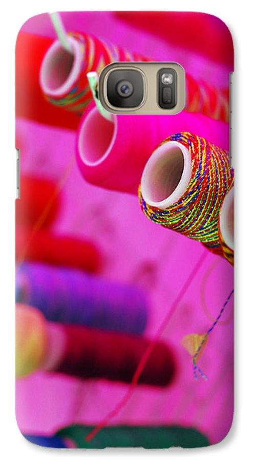 Color Galaxy S7 Case featuring the photograph String Theory by Skip Hunt
