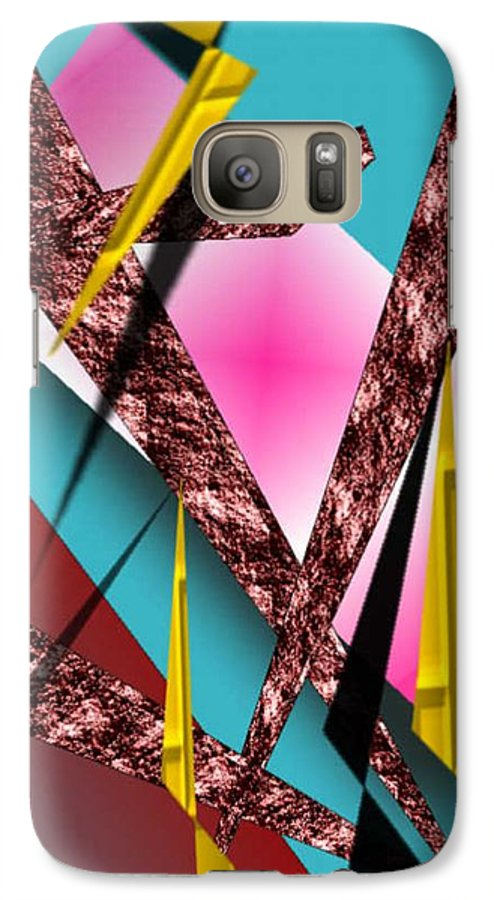Abstracts Galaxy S7 Case featuring the digital art Structure by Brenda L Spencer