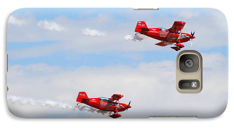 Stunts Galaxy S7 Case featuring the photograph Stunt Pilots by Larry Keahey